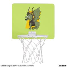 Green dragon cartoon mini basketball backboards