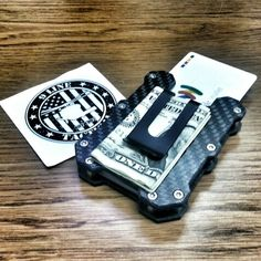 Carbon Fiber CG1 Tactical Wallet www.9linetactical.net Cash Wallet, Key Wallet, Slim Wallet, Modern Wallet, Minimal Wallet, Tactical Accessories, Edc Bag, Everyday Carry Gear, Kydex Holster