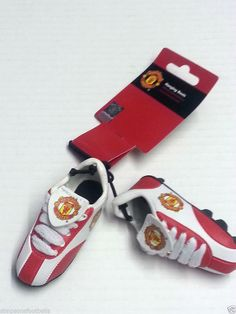 Man United Car Products Hanging Boots Official Gifts Manchester United Gifts In Car Products Hanging Boots Size 3.5inch Club Crested x 3 Crest on boot Brand New Official Soccer Football Gifts