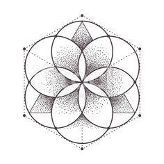 Circulos Zen Art, Sacred Geometry Patterns, Fractal Geometry, Sacred Geometry Tattoo, Fractal Art, Geometric Designs, Sacred Art, Sacred Symbols, Tatoo