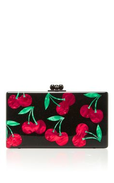 M'O Exclusive Obsidian Cherries Clutch by EDIE PARKER Now Available on Moda Operandi