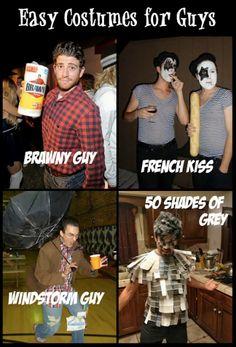 Homemade hilarious costumes. I LOVE the 50 shades of grey idea.