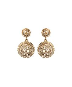 Love this Gold Crystal Medina Drop Earrings on #zulily! #zulilyfinds