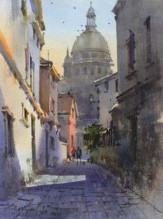 Watercolor Landscape Paintings, Painting & Drawing, Arch, Drawings, Indian, Templates, Watercolor Painting, Italia, Paintings