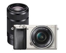 Sony Alpha a6000 Mirrorless Camera with 16–50mm Retractable Lens and Extra 55–210mm Lens - Larger Front