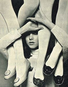 Photo by Guy Bourdin for a Charles Jourdan ad., Spring/Summer of 1967.