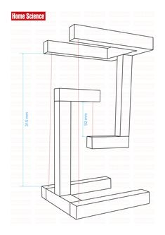 Diy Wooden Projects, Wood Shop Projects, Easy Woodworking Projects, Wooden Diy, Furniture Projects, Woodworking Plans, Wood Crafts, Diy Furniture, Welded Furniture