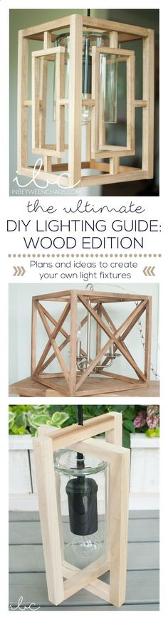 Plans of Woodworking Diy Projects - Ultimate Lighting Guide Wood Edition | inbetweenchaos.com Get A Lifetime Of Project Ideas & Inspiration!