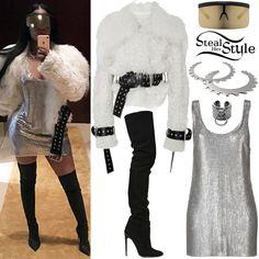 Nicki Minaj Clothes & Outfits | Steal Her Style Mamma Mia, Stylish Outfits, Cute Outfits, Fashion Outfits, Stylish Clothes, Celebrity Outfits, Celebrity Style, Nicki Minaj Outfits, Silk Bralette