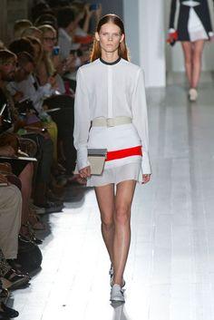 Victoria Beckham #SS2013 #trend BLANCO+NARANJA