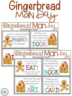 Find that gingerbread man in your school with this fun scavenger hunt