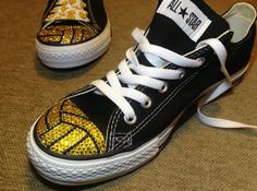Water Polo Shoes!! Water Polo Blinged Converse by TeamMomBling on Etsy, $125.00