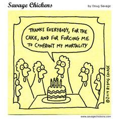 savage chicken birthday mortality - Google Search