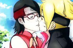 Sarada and Boruto Kiss 💕💕 Naruhina, Boruto And Sarada, Naruto Uzumaki, Boruto Next Generation, Lord, Boruto Naruto Next Generations, Nalu, Mini, Fangirl