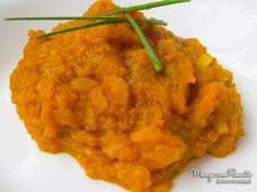 Quibebe de Abóbora, perfeito para um almoço saudável durante a semana. Para ver a receita clique na foto para ir ao blog Manga com Pimenta.