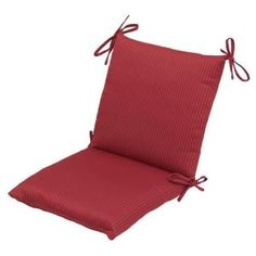 From The Home Depot · Hampton Bay, Chili Solid Mid Back Outdoor Chair  Cushion, 7410 06002611 At The