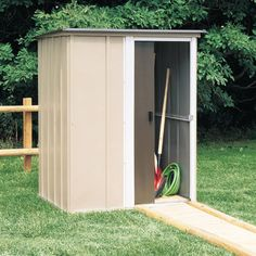 Arrow sheds offers metal storage shed kits for low cost outdoor storage. Buy your new Arrow metal storage sheds and vinyl coated steel buildings for your home backyard or garden storage today! Steel Storage Sheds, Storage Shed Kits, Steel Sheds, Backyard Storage Sheds, Garden Storage Shed, Backyard Sheds, Diy Shed, Outdoor Sheds, Garden Sheds