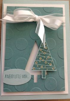 Festival of Trees stamp set and Punch from Stampin' Up! www ...