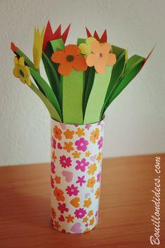 DIY fête des mères - mamies, st Valentin : Bouquet de fleurs en papier