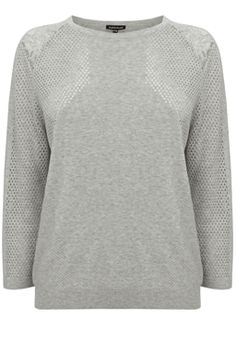 GEO POINTELLE AND LACE JUMPER