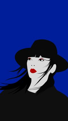 Mysterious Woman Illustration Poster Flat Design