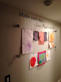 Kids art wall...