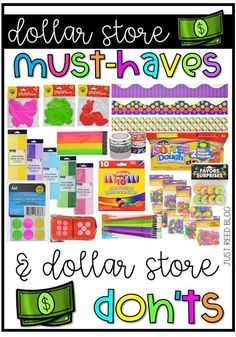 As you go back to school shopping for classroom school supplies, this list of Dollar Tree Teacher Supplies includes 7 items you NEED to purchase at the dollar store and 5 you need to avoid at all costs! Preschool Supplies, Teacher Supplies, Classroom Supplies, Teacher Hacks, Classroom Organization, Classroom Management, Teacher Stuff, Teacher List, Preschool Ideas