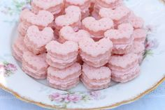 Sparkling Strawberry Cream Wafers!