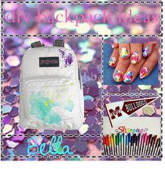 """diy backpack ideas!!"" by the-beauty-nerds ❤ liked on Polyvore"