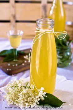 Przepis na syrop z bzu czarnego (czarny bez - przepis). Z cytryną i limonką, pyszny! (Elderflower cordial) Liqueur, Polish Recipes, Keto Diet For Beginners, Natural Medicine, Nutrition Tips, Food Art, Smoothies, Clean Eating, Good Food