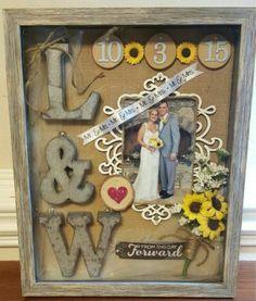 Shadow Box Baby, Diy Shadow Box, Wedding Shadow Boxes, Wedding Memory Box, Wedding Table, Diy Wedding, Rustic Wedding, Wedding Gifts, Wedding Ideas