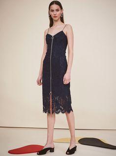 b16583ee23 Petipa Navy Lace Cocktail Dress by KITRI Studio Cotton Shirt Dress