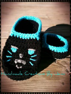 Carolina Panther womens moccasin slippers. Handmade Creations By Jenn e77de3527