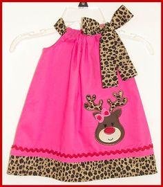 f15becae026 christmas reindeer girly hot pink leopard Leopard Dress