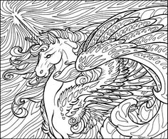 unicorn horse coloring page  Www.wheresthecolour.com