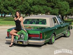 1981 Lincoln Town Car Model Photo Lowrider Magazine Article At