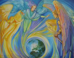 9+levels+of+angels | Angel Paintings Gallery by Jane Delaford Taylor