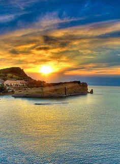 Sunset in Corfu Island, Greece