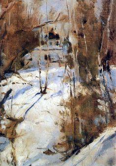 Валентин Александрович Серов. Зима в Абрамцево