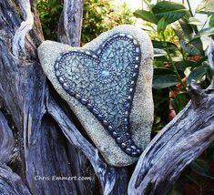 Lavender Mosaic Heart Garden Stone | The largest heart I've … | Flickr