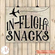 Travel Airplanes Birthday Party Sign, In-Flight Snacks Sign, Around the World Theme, Maps Baby Shower, Bridal Shower Decor, Adult, Digital