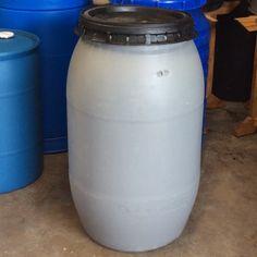 60 Gallon Plastic Square Barrel Twist Off Top From Texas
