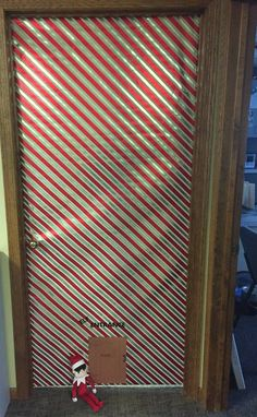"""Elf Entrance"" Christmas Door Decorating Contest, Christmas Door Decorations, Classroom Door, Elf, Blinds, Entrance, Xmas, Doors, Home Decor"