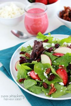 This copycat Zupas strawberry harvest salad is the perfect way to bring spring flavors into your menu!