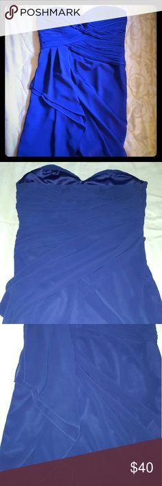 FINAL PRICE! Blue mini dress Blue mini dress with ruffles in front Minuet Dresses Mini