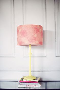 Pink lampshade pink floral lamp pink home by ShadowbrightLamps