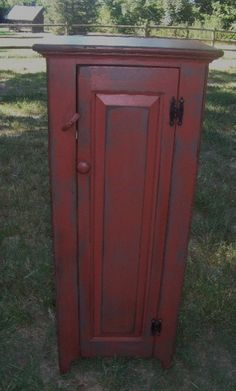 Early American Painted Primitive Distressed Chimney by jimshelby, $325.00 .. like the reddish-black color