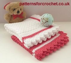 Free baby crochet pattern for washcloth from http://www.patternsforcrochet.co.uk/baby-wash-cloth-usa.html #freecrochetpatterns #patternsforcrochet
