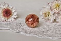 Lovely botanical necklace with real rose