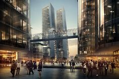 Alibaba-'A'-Community-Development,-Chengdu,-China,-by-Andrew-Bromberg-of-Aedas_Plaza-view